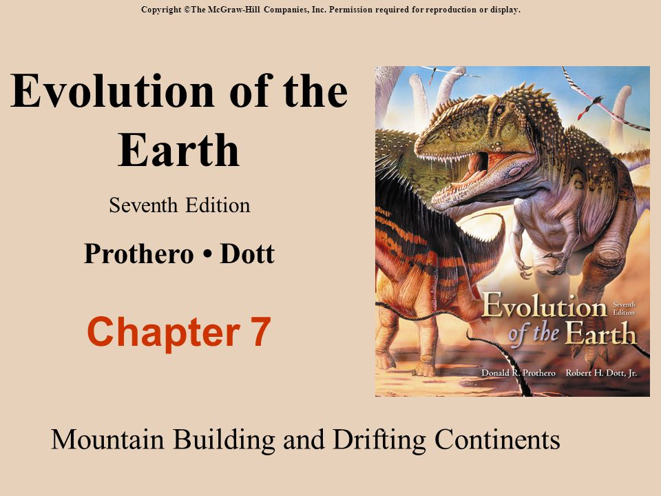 Evolution of the Earth Chapter 7 Prothero • Dott