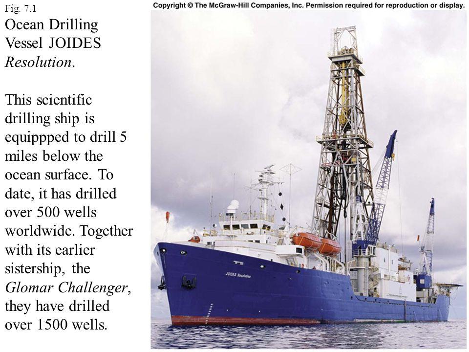 Ocean Drilling Vessel JOIDES Resolution.