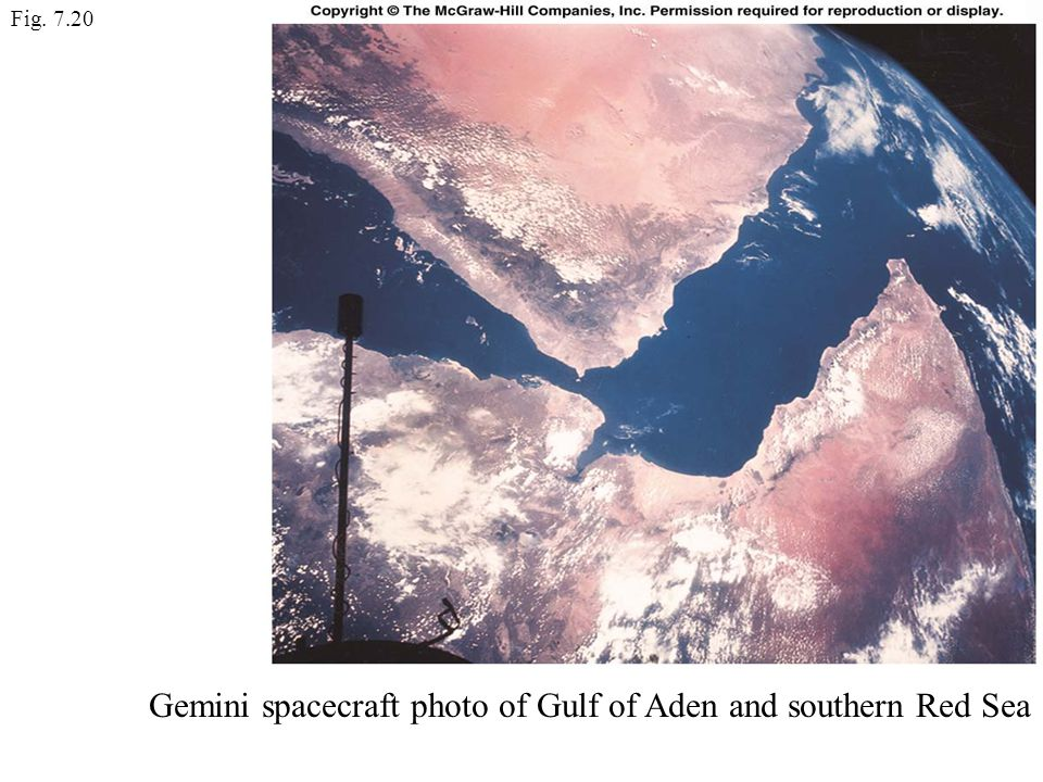 Gemini spacecraft photo of Gulf of Aden and southern Red Sea