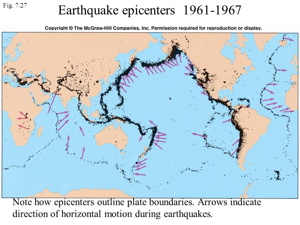Earthquake epicenters 1961-1967