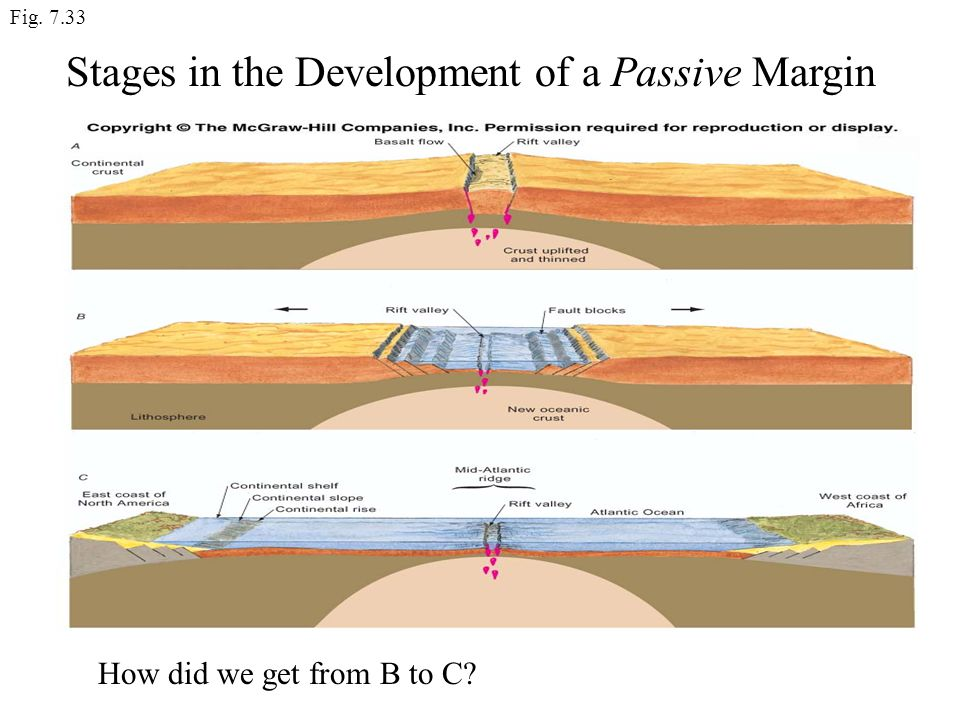 Stages in the Development of a Passive Margin