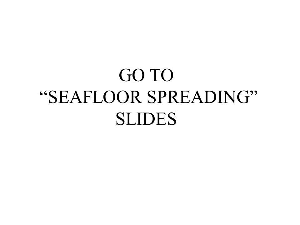 GO TO SEAFLOOR SPREADING SLIDES