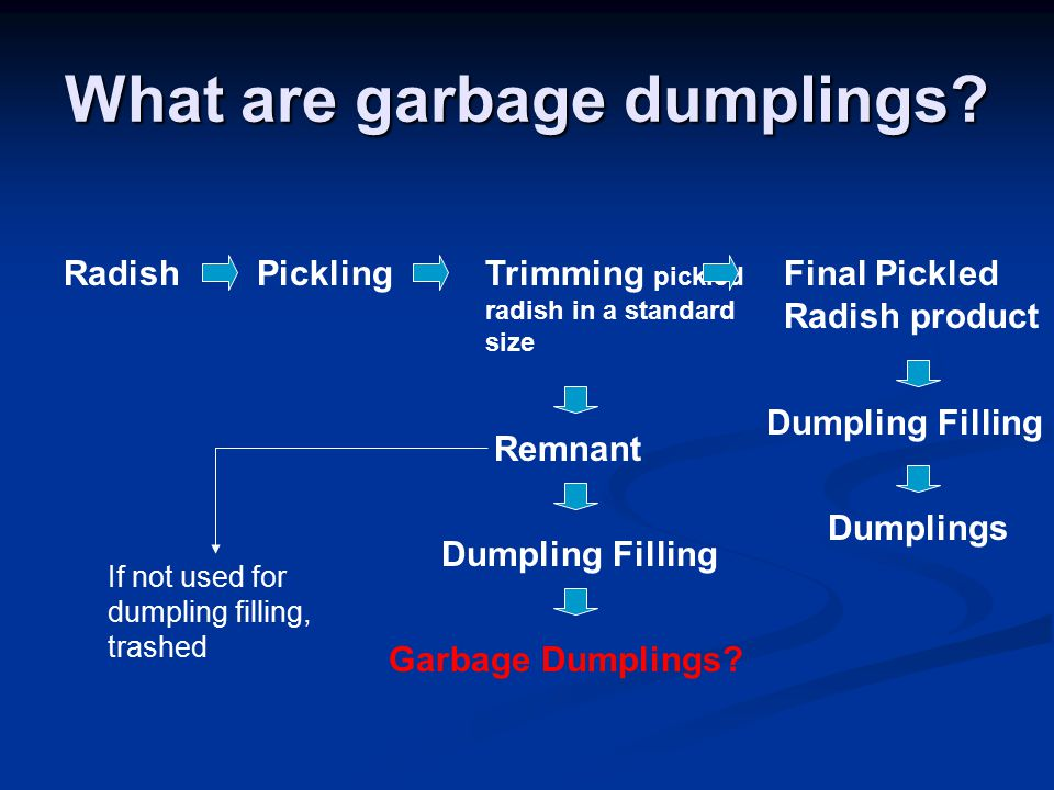 What are garbage dumplings