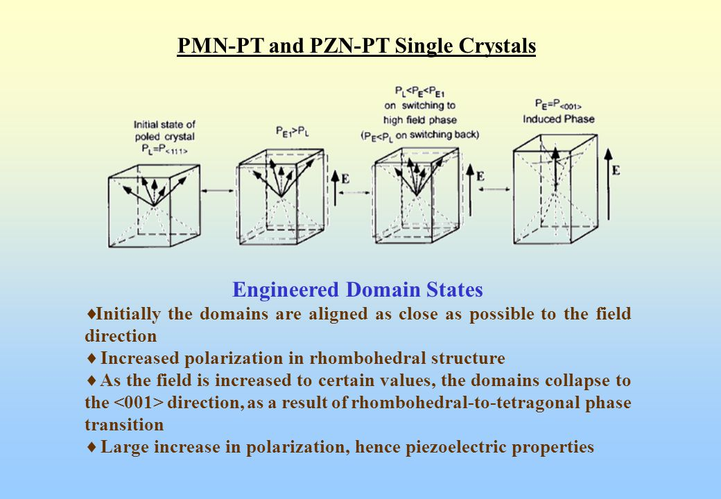 PMN-PT and PZN-PT Single Crystals Engineered Domain States