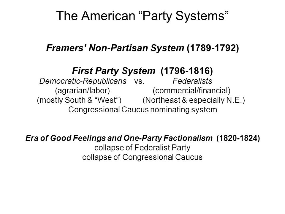 The American Party Systems