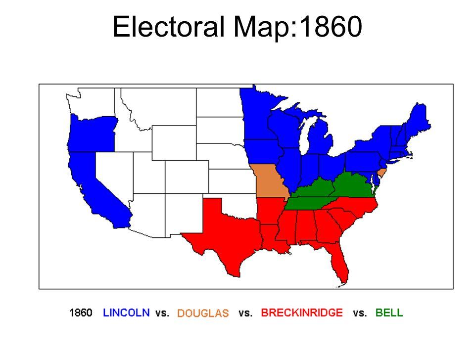 Electoral Map:1860