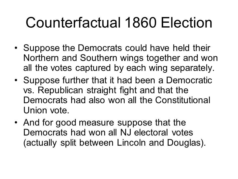 Counterfactual 1860 Election