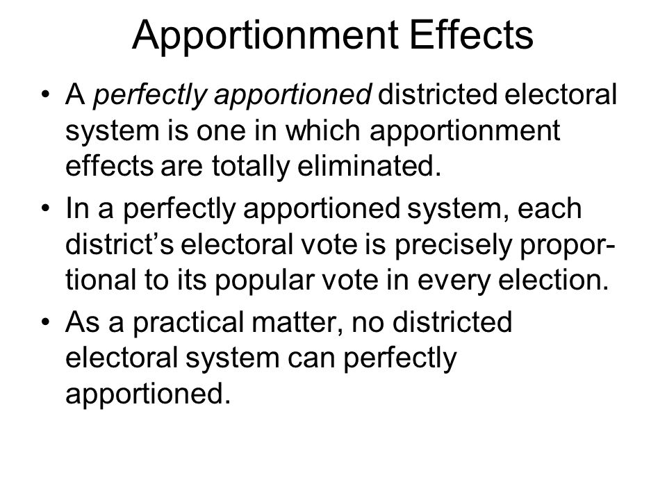 Apportionment Effects