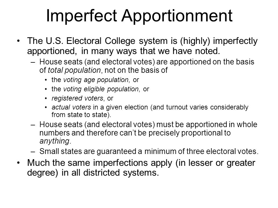 Imperfect Apportionment