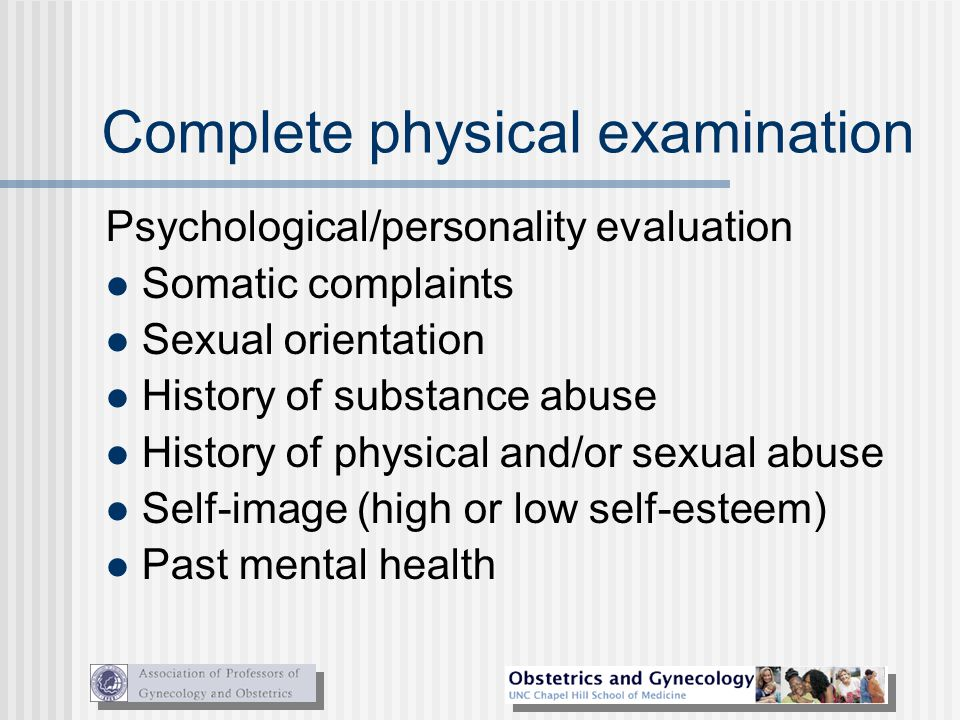 Complete physical examination