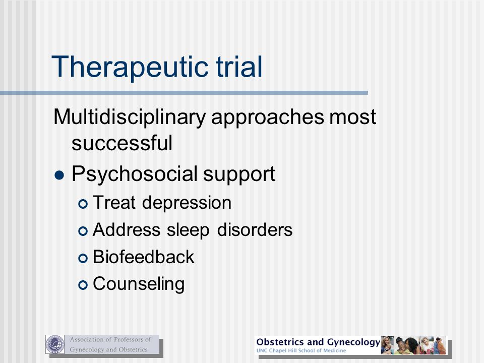 Therapeutic trial Multidisciplinary approaches most successful