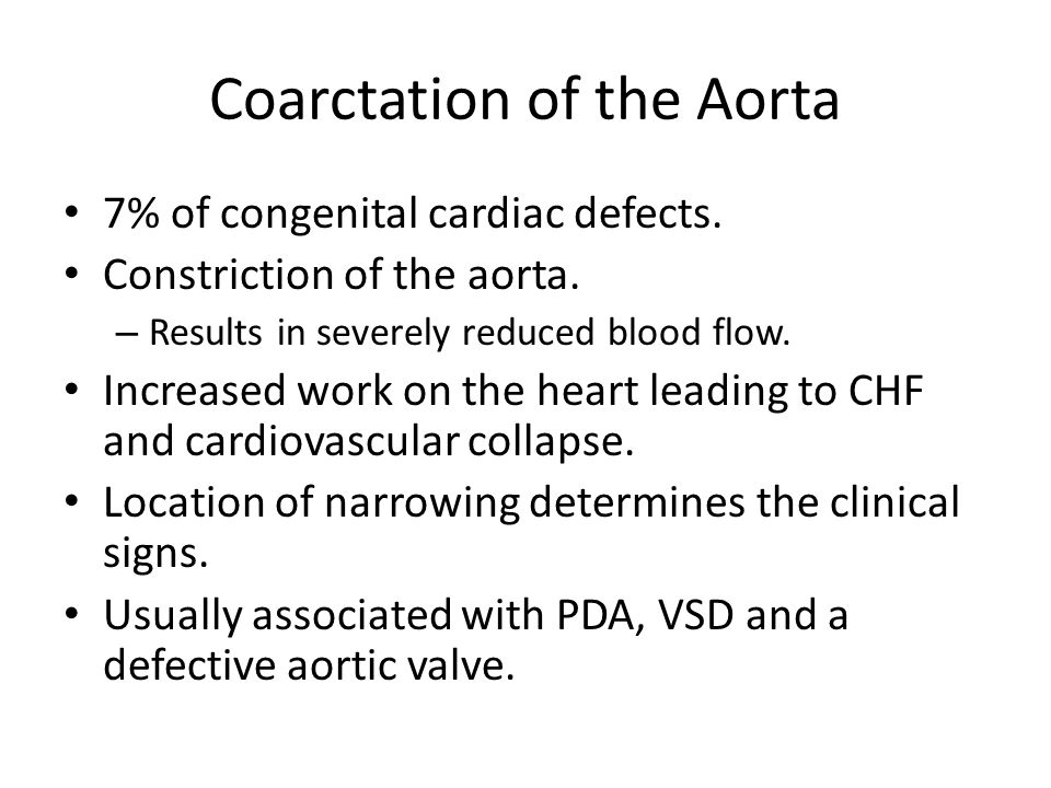 Coarctation of the Aorta