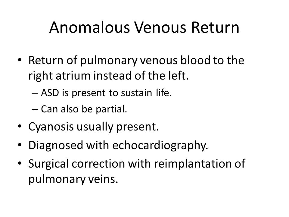 Anomalous Venous Return