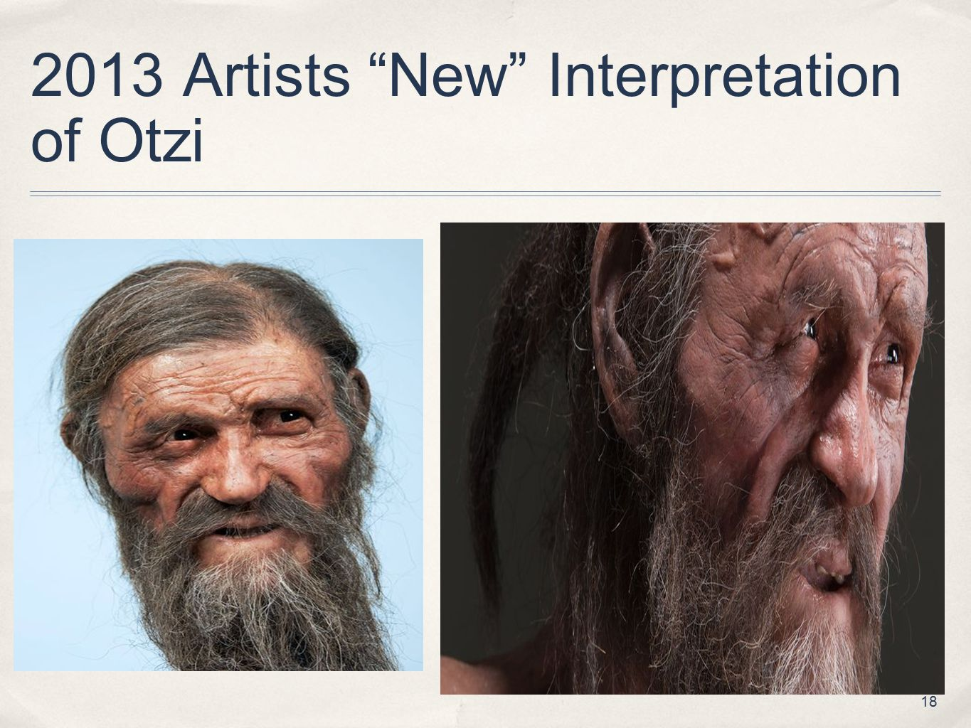 2013 Artists New Interpretation of Otzi