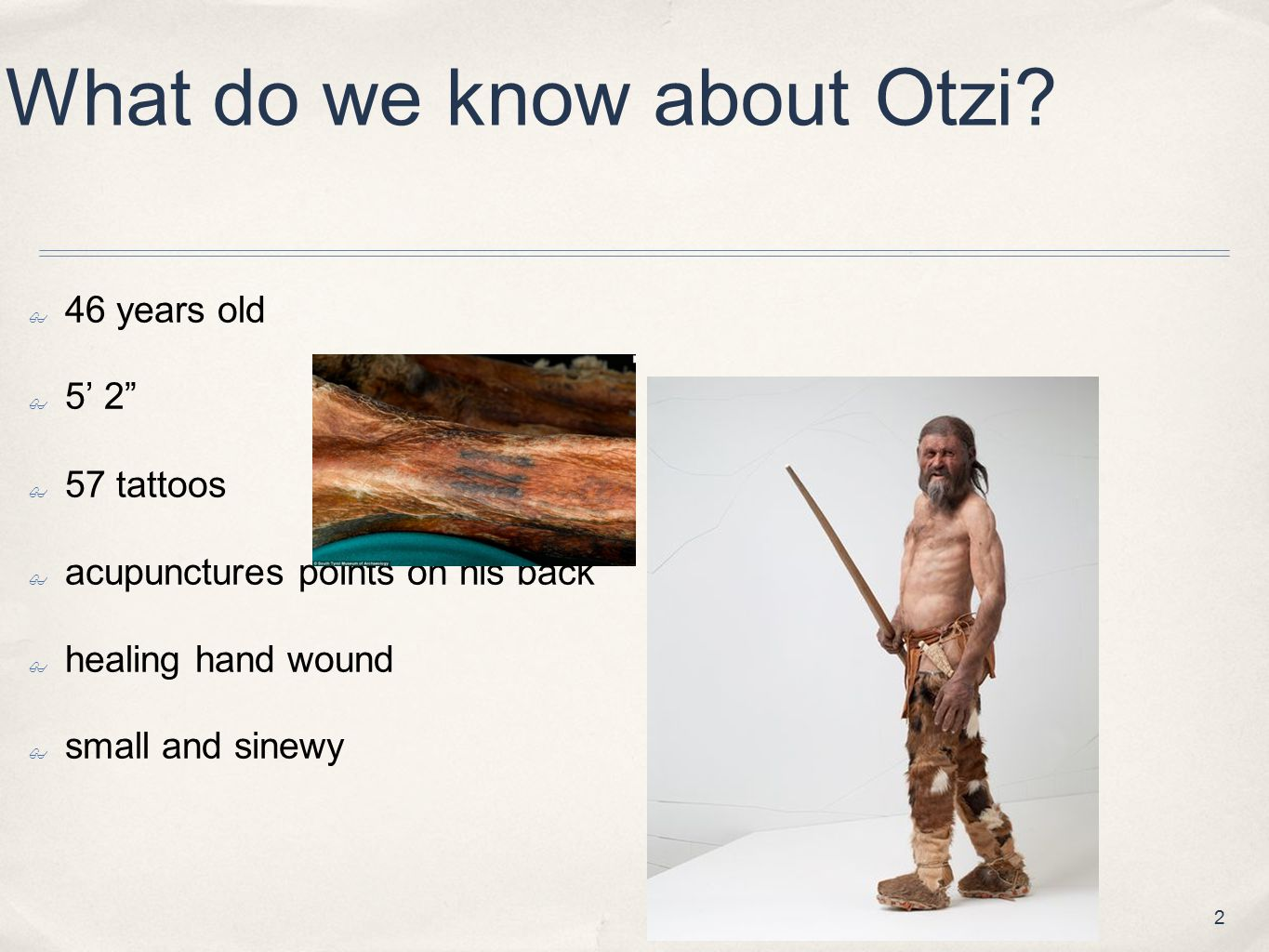 What do we know about Otzi