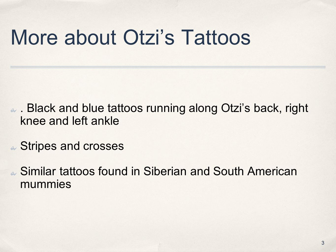 More about Otzi's Tattoos