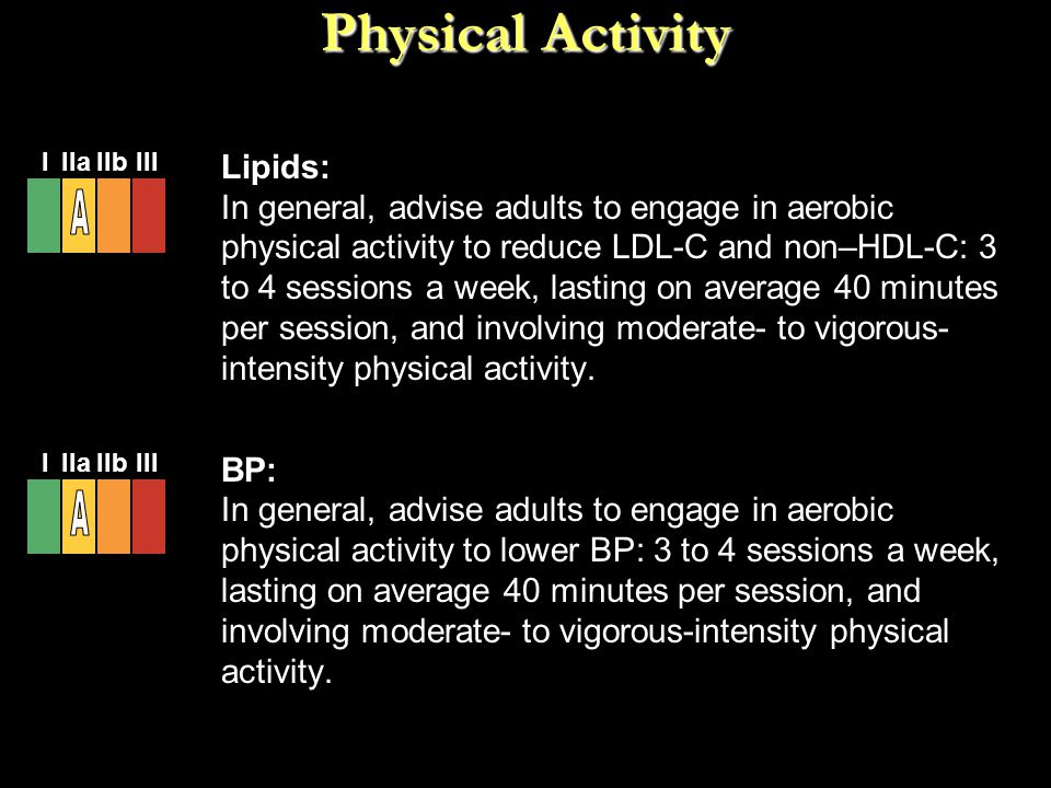 Physical Activity A A Lipids: