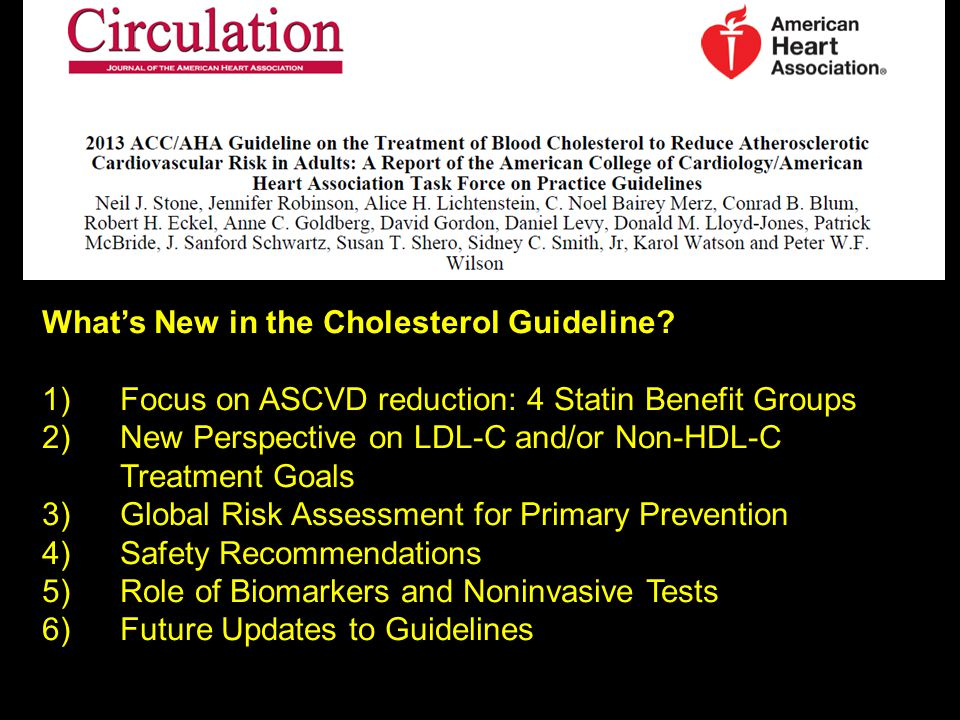 What's New in the Cholesterol Guideline