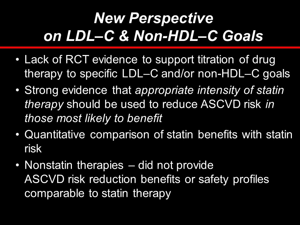 on LDL–C & Non-HDL–C Goals