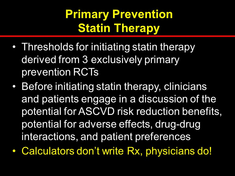 Primary Prevention Statin Therapy