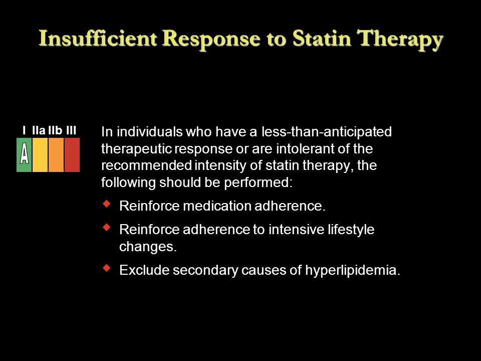 Insufficient Response to Statin Therapy