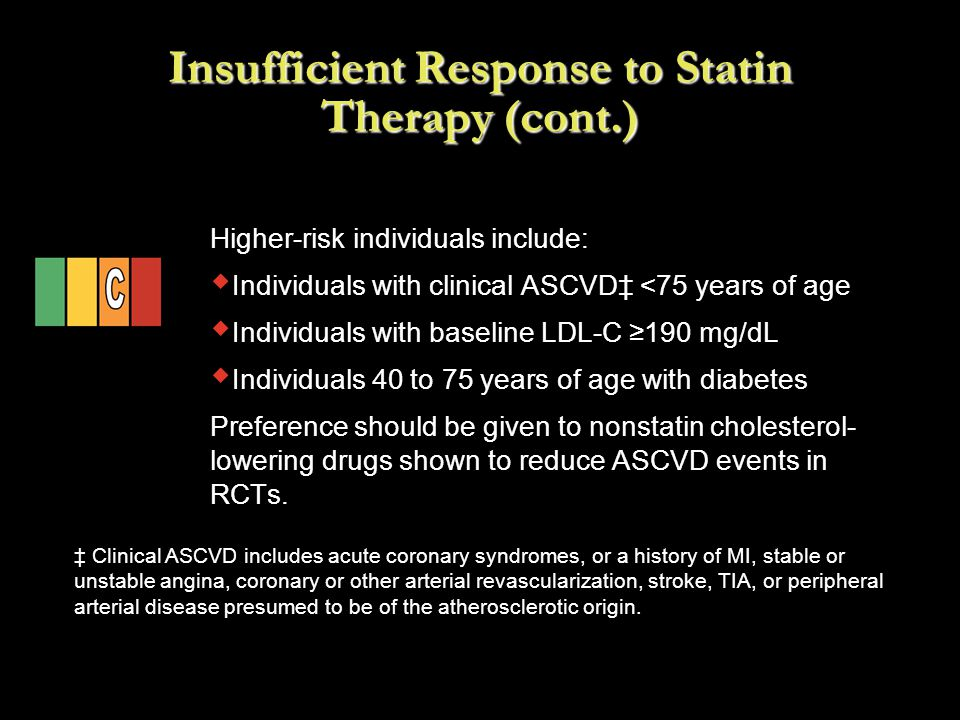 Insufficient Response to Statin Therapy (cont.)