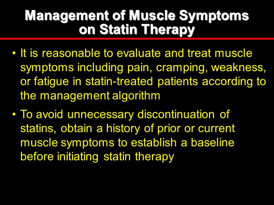 Management of Muscle Symptoms on Statin Therapy