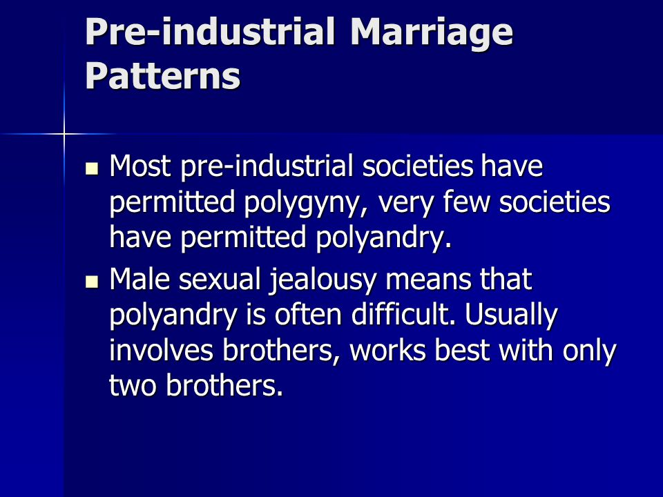 Pre-industrial Marriage Patterns