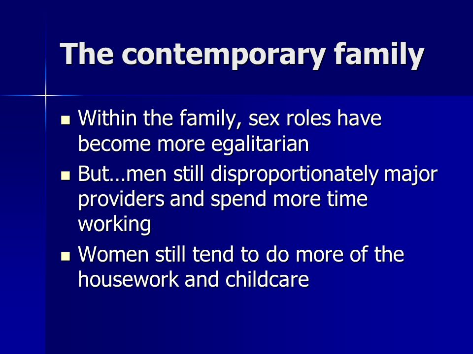 The contemporary family