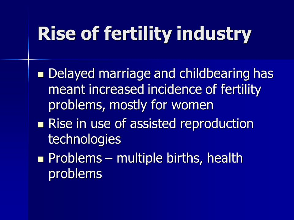 Rise of fertility industry