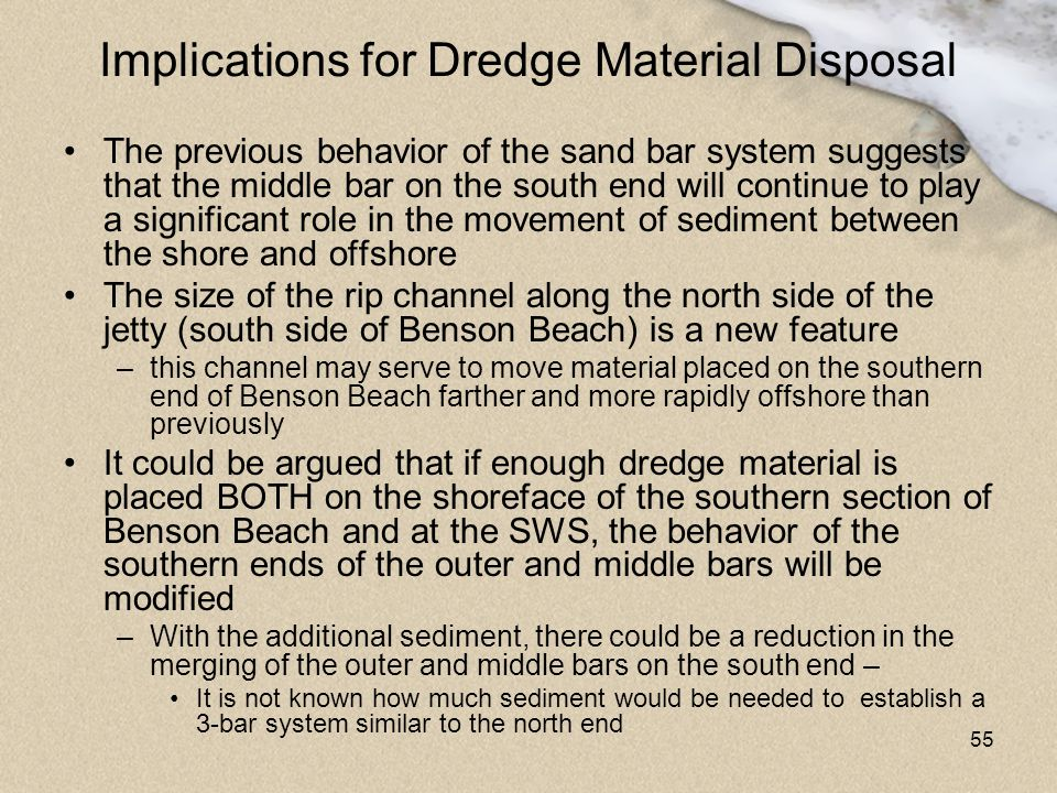 Implications for Dredge Material Disposal