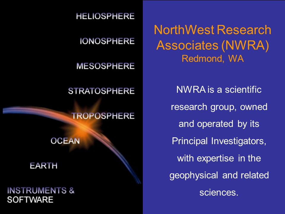 NorthWest Research Associates (NWRA) Redmond, WA