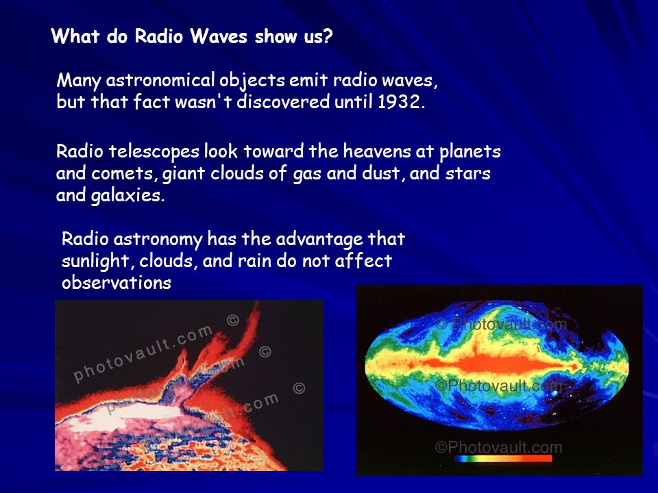 What do Radio Waves show us