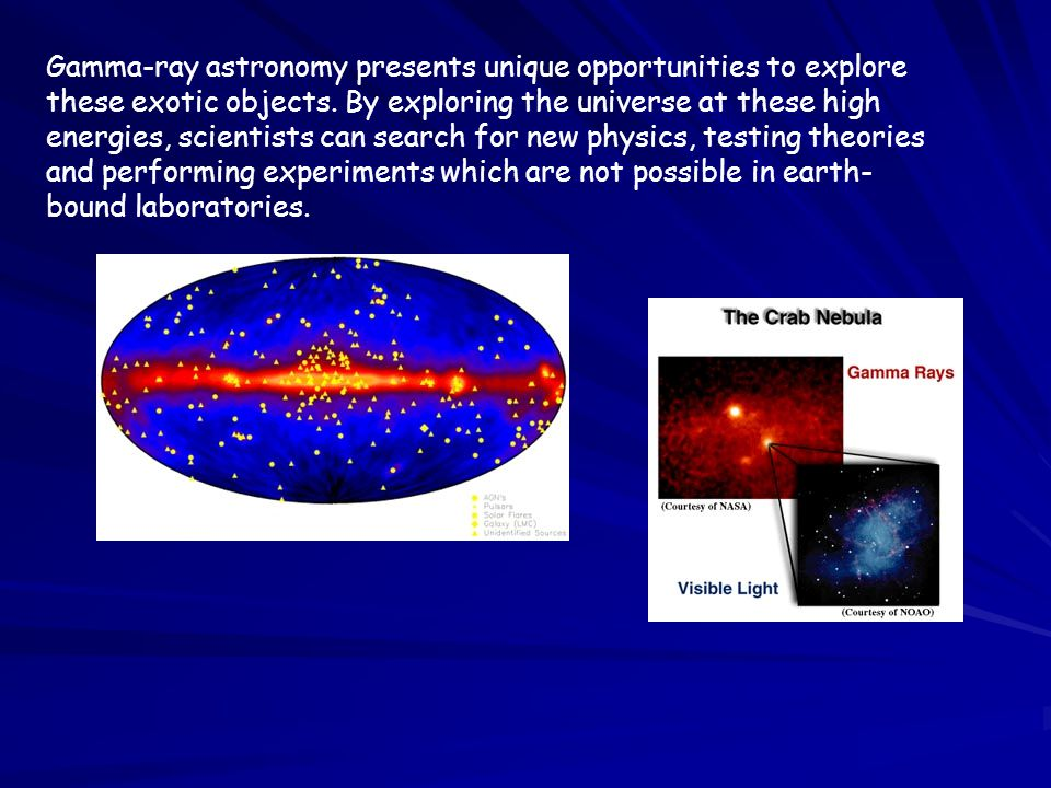 Gamma-ray astronomy presents unique opportunities to explore these exotic objects.