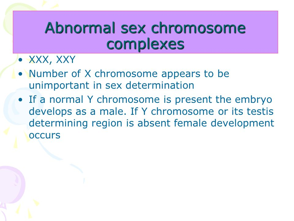 Abnormal sex chromosome complexes