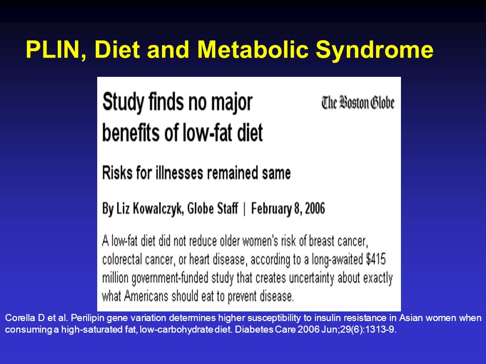 PLIN, Diet and Metabolic Syndrome