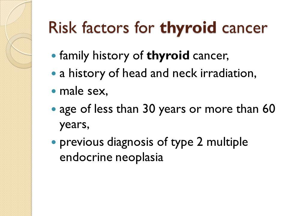Risk factors for thyroid cancer