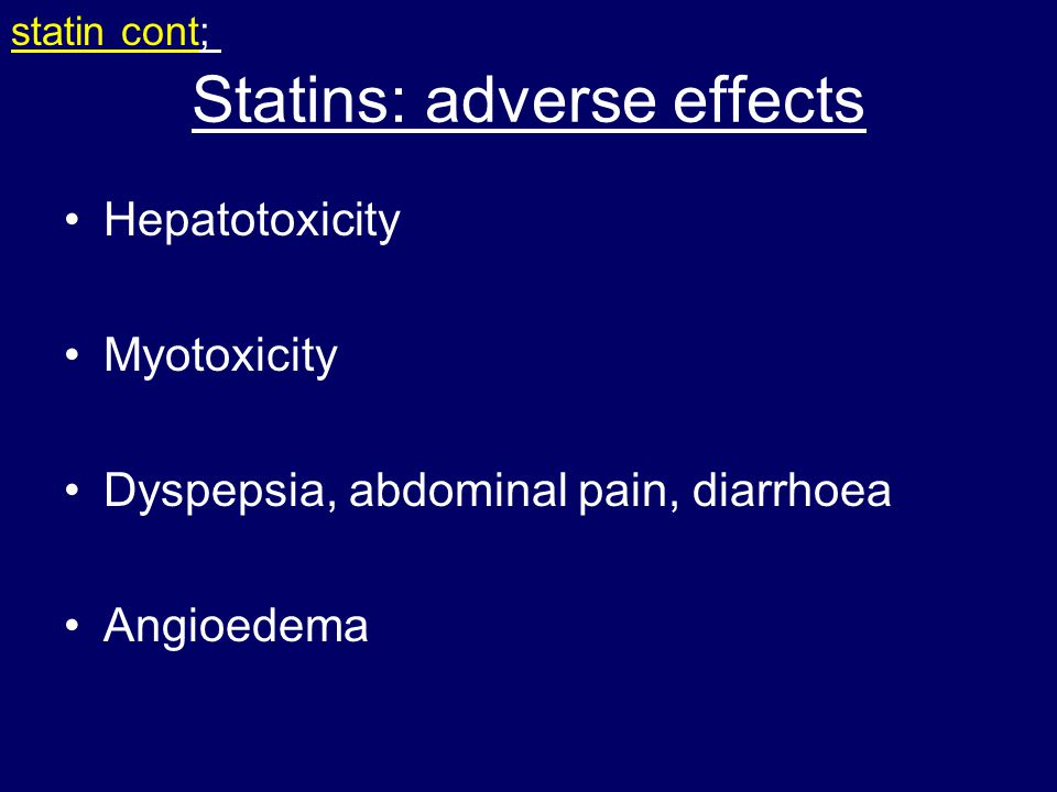 Statins: adverse effects