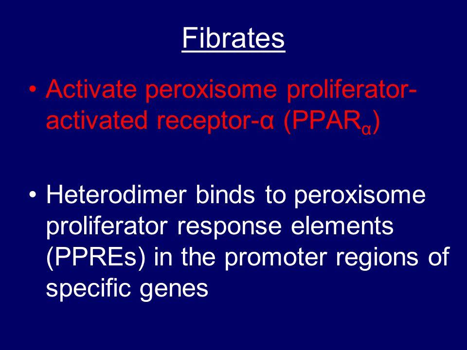 Fibrates Activate peroxisome proliferator-activated receptor-α (PPARα)