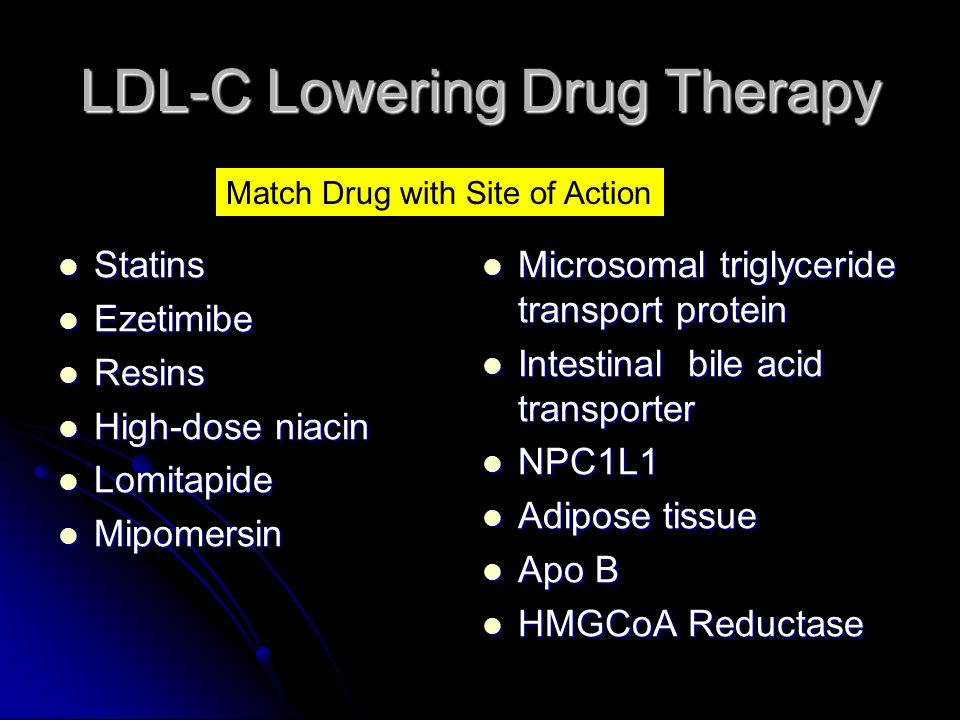 LDL-C Lowering Drug Therapy
