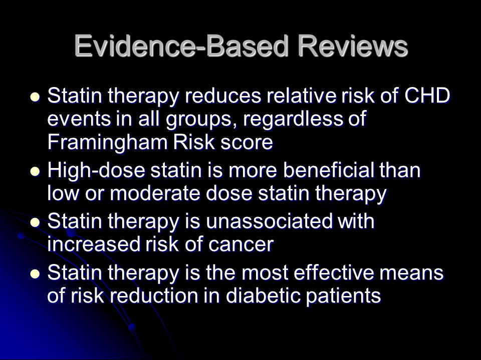 Evidence-Based Reviews
