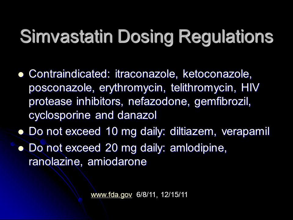 Simvastatin Dosing Regulations