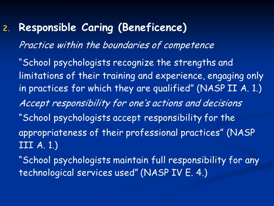 Responsible Caring (Beneficence)
