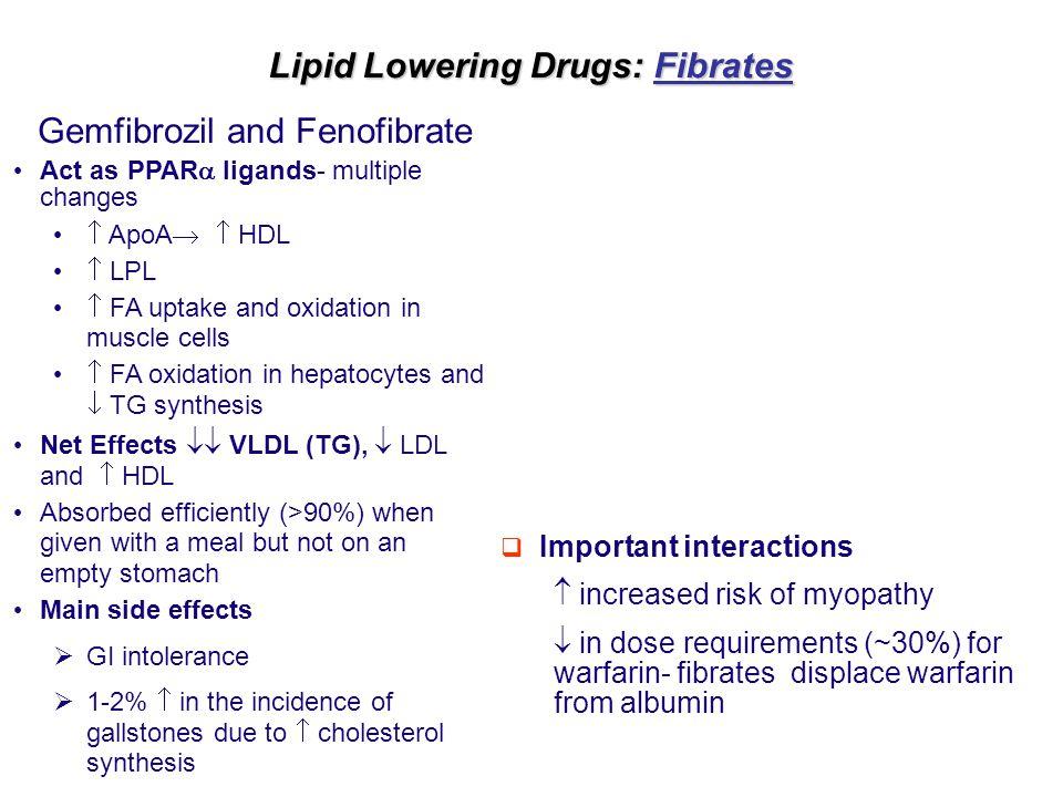 Lipid Lowering Drugs: Fibrates