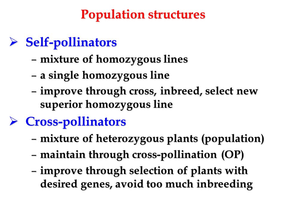 Population structures
