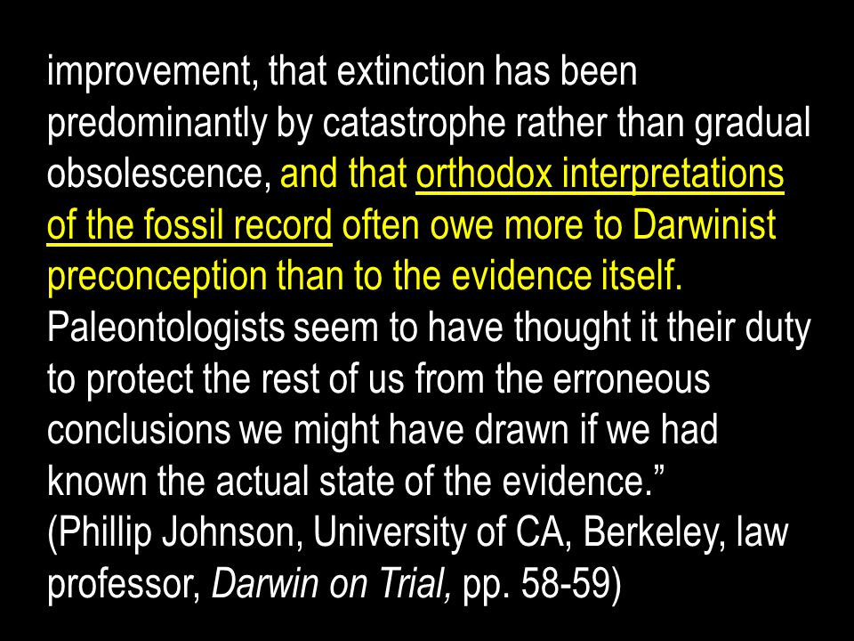 improvement, that extinction has been