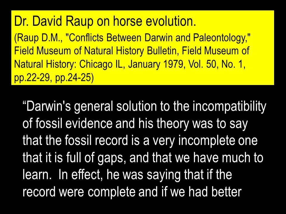 Dr. David Raup on horse evolution.