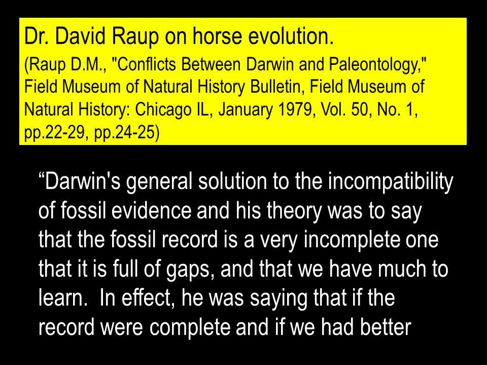Dr. David Raup on horse evolution.