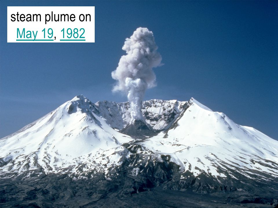 steam plume on May 19, 1982