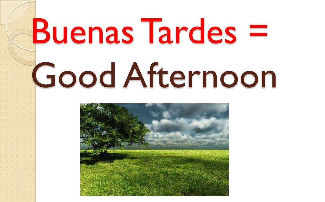 Buenas Tardes = Good Afternoon